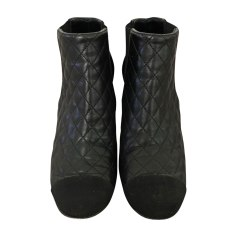 Bottines & low boots à talons CHANEL Noir