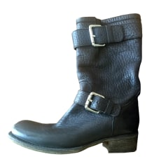 Bottines & low boots motards FREE LANCE Noir