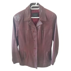 Manteau en cuir OAKWOOD Rouge, bordeaux
