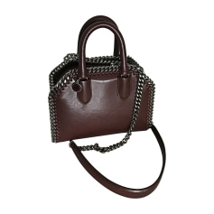 Leather Shoulder Bag STELLA MCCARTNEY Falabella Red, burgundy