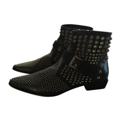 Bottines & low boots motards CESARE PACIOTTI Noir