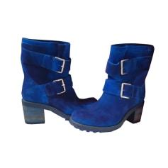 Bottines & low boots à talons FREE LANCE bleu électrique