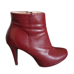 Bottines & low boots à talons MINELLI Rouge, bordeaux