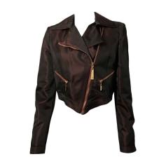 Zipped Jacket JUST CAVALLI Bordeaux violet irise