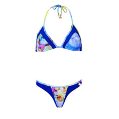 Maillot de bain deux-pièces AGUA BENDITA Bleu, bleu marine, bleu turquoise