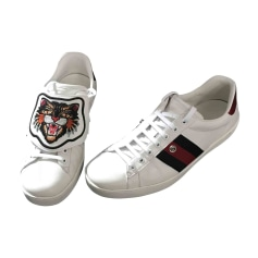 Sneakers GUCCI White, off-white, ecru