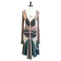 Midi-Kleid DESIGUAL Braun