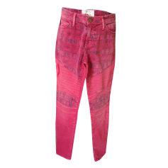 Straight Leg Jeans CURRENT/ELLIOTT Pink, fuchsia, light pink
