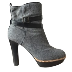 High Heel Ankle Boots MINELLI Gray, charcoal