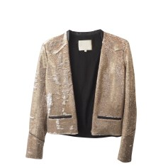 Jacket MAJE Golden, bronze, copper