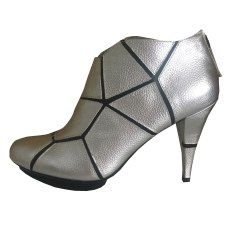 High Heel Ankle Boots UNITED NUDE Silver