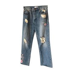Jeans évasé, boot-cut ANINE BING Bleu, bleu marine, bleu turquoise