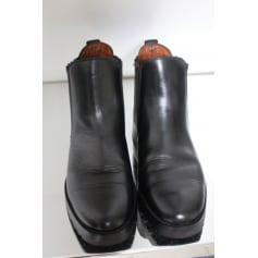 Bottines & low boots plates AIGLE Noir