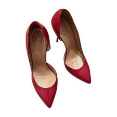 Pumps, Heels GUCCI Red, burgundy