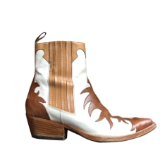 Cowboy Ankle Boots SARTORE White, off-white, ecru