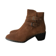 High Heel Ankle Boots THE KOOPLES Brown