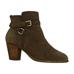 High Heel Ankle Boots RALPH LAUREN Taupe ou beige