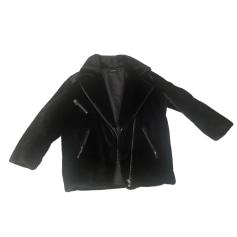 Manteau en fourrure THE KOOPLES Noir