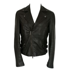 Leather Zipped Jacket RAG & BONE Black