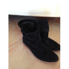 Bottines & low boots plates PASTELLE Noir