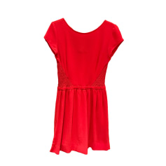 Mini Dress MAJE Red, burgundy