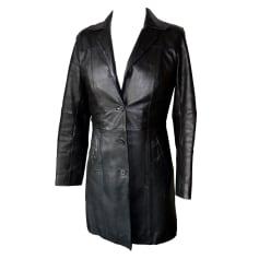Manteau en cuir OAKWOOD Noir