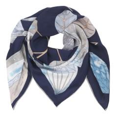 Echarpe BECKSONDERGAARD Bleu, bleu marine, bleu turquoise