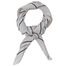 Foulard BECKSONDERGAARD Blanc, blanc cassé, écru