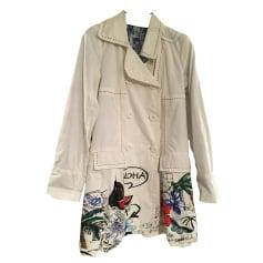 Regenjacke, Trenchcoat DESIGUAL Weiß, elfenbeinfarben