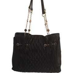 Leather Handbag BULGARI Black
