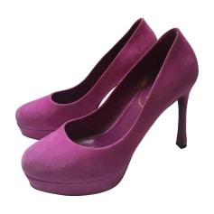 Pumps, Heels YVES SAINT LAURENT Pink, fuchsia, light pink