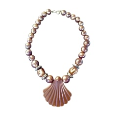 Collier 100% VINTAGE marron glacé