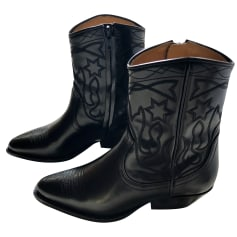 Santiags, bottines, low boots cowboy SANDRO Noir