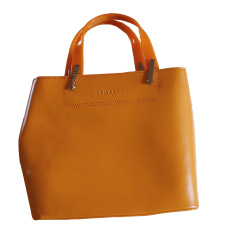 Sac à main en cuir LAMARTHE Orange