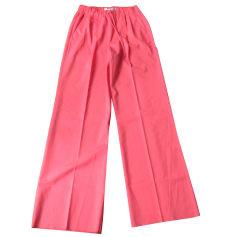 Pantalone largo MAX MARA Rosa, fucsia, rosa antico