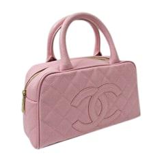 Lederhandtasche CHANEL Pink,  altrosa