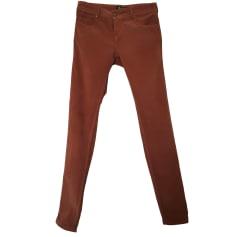 Pantalon slim, cigarette BEST MOUNTAIN Marron