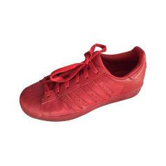Baskets ADIDAS Rouge, bordeaux