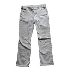 Pantalon droit AGNÈS B Blanc, blanc cassé, écru