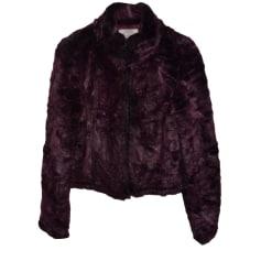 Blouson, veste en fourrure ARMANI JEANS Violet, mauve, lavande