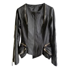 Leather Zipped Jacket JEROME DREYFUSS Black