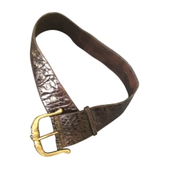 Wide Belt CÉLINE Brown