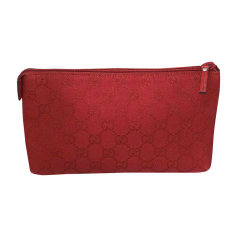 Pouch GUCCI Red, burgundy