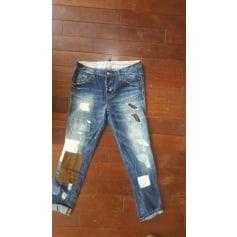 Jeans droit DSQUARED Bleu, bleu marine, bleu turquoise