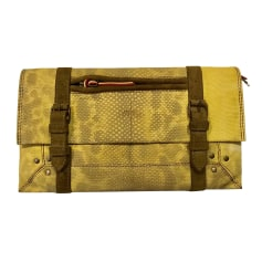 Leather Clutch JEROME DREYFUSS Yellow