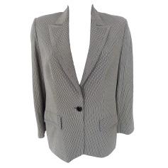 Blazer, veste tailleur APOSTROPHE rayé écru / noir