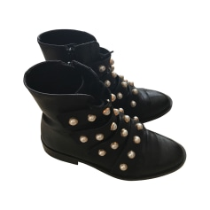 Bottines & low boots plates ZARA Noir