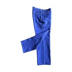 Pantalon droit MASSIMO DUTTI Bleu, bleu marine, bleu turquoise