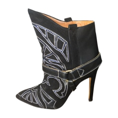 Santiags, bottines, low boots cowboy ISABEL MARANT Noir