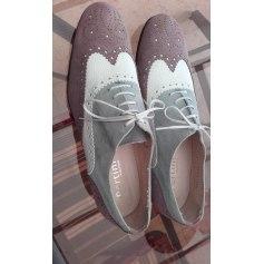 Chaussures à lacets  PERTINI vieux rose, blanc et gris